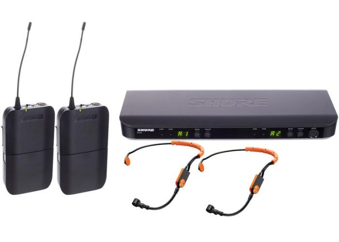 Shure Rec. BLX188, 2xBLX1 transm., 2x SM31 FH micro headset