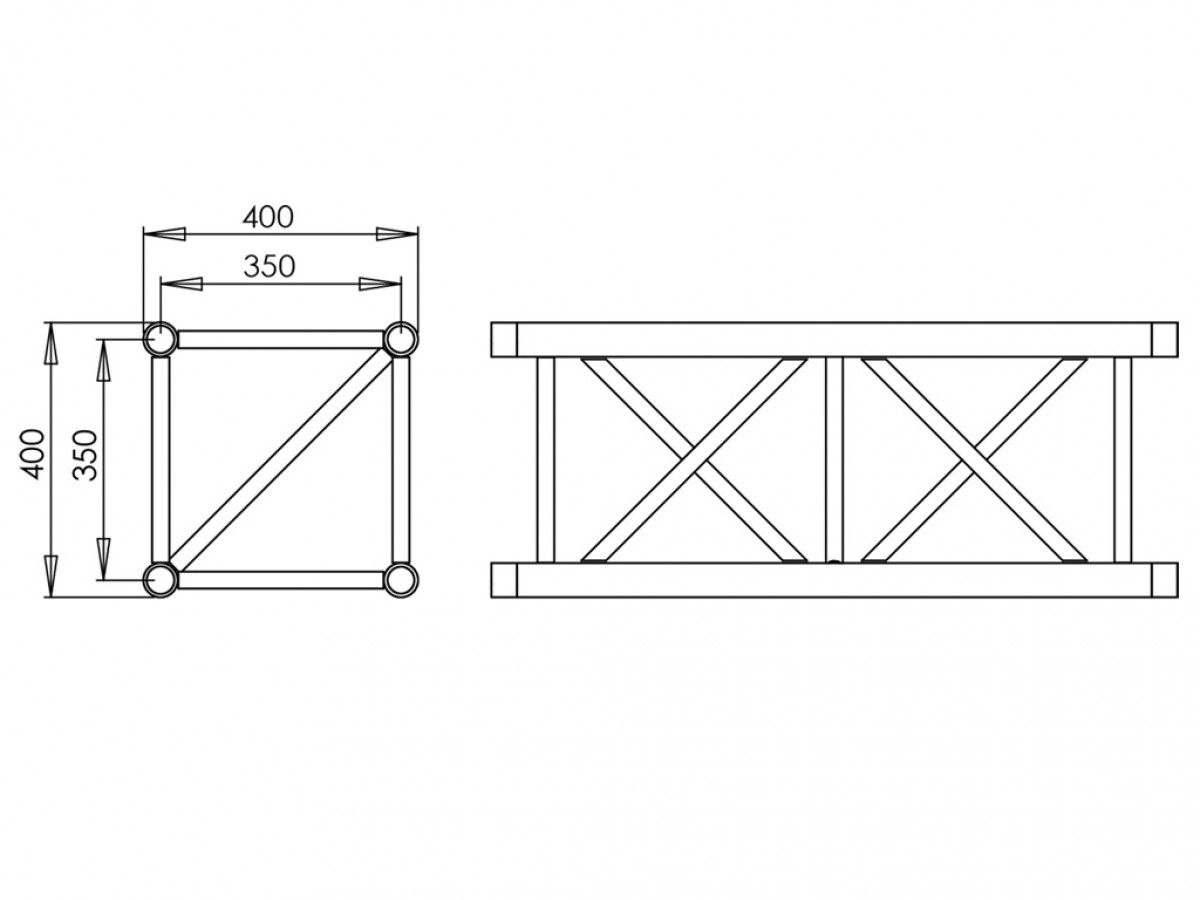 Fantek quadrangular 400x400x500