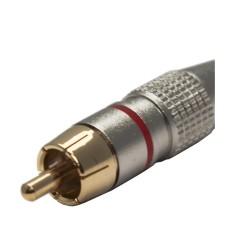 Art System ficha RCA macho cabo metal (vermelho)