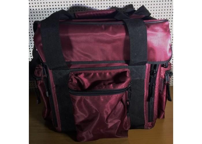 UDG flipfront bag large dark red.