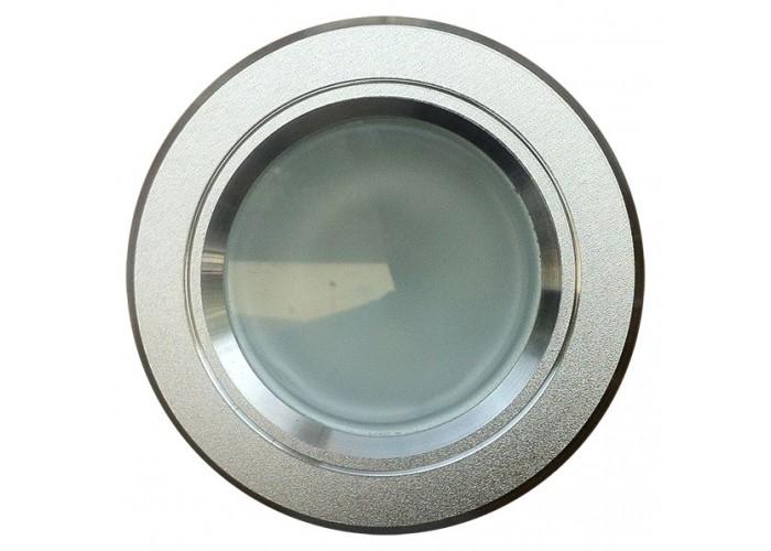 Art System 1 leds de 6w, 230v,branco frio 6400ºk,espelho cinza redondo, 120x40m