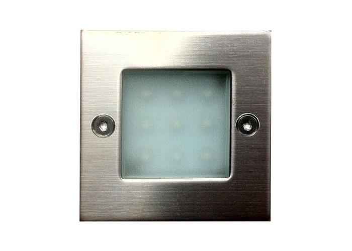 Art System 230V, 9x5mm LED, 0.8W, IP54, ALU, branco frio 71X71X51mm