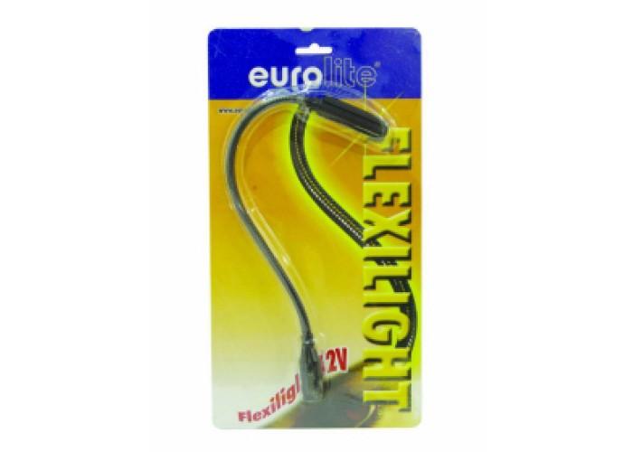 Eurolite flexilight candeeiro redondo 12v5w c. conector xlr3